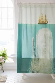 Shower Curtain Terry Fan The Whale Shower Curtain Urban Outfitters