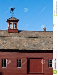 Cupolas For Barns Red Barn With Slate Roof And Cupola Stock Images Image 21860474