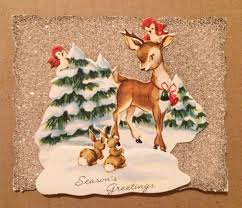 935 best vintage reindeer images on pinterest vintage christmas