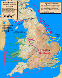 Byzantine Empire Map End Of Roman Rule In Britain S V History Roman And