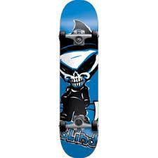 Blind Skate Logo Blind Skateboards Complete Blue Reaper Ss 7 0 Mini