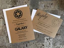 wars wedding invitations rustic wars themed wedding invitation and rsvp card set