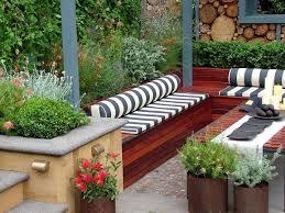 Small Garden Area Ideas Small Garden Ideas Modern Seating Area Wooden Benches Small