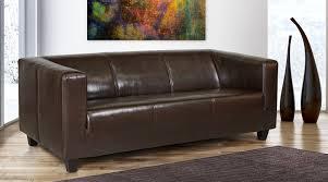 ledersofa online bestellen b famous 3 sitzer sofa kuba 186 x 88 cm kunstleder braun amazon
