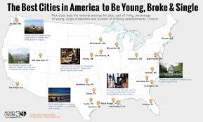 Louisiana Map Cities by Post Grad Problems The Top 20 U S Cities To Live For Young