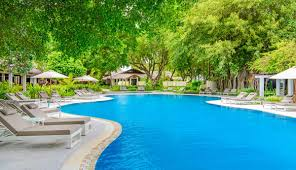 Maldives Cottages On Water by Freshwater Swimming Pool Sheraton Maldives Resort
