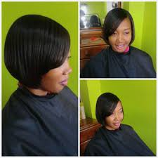 relaxed short bob hairstyle short hairstyles hairstyles for relaxed short hair for a round
