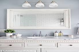 White Framed Bathroom Mirrors White Frame Mirror Bathroom Amusing White Bathroom Mirror Design