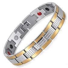 man magnetic bracelet images Auryaspower 7001 silver gold 4 in 1 magnetic jpg