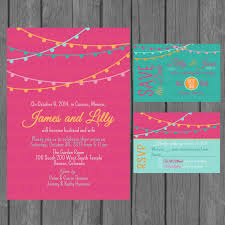 wedding reception only invitations simple wedding invitation suite modern colorful wedding