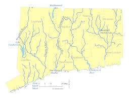 Connecticut Lakes images State of connecticut water feature map and list of county lakes gif