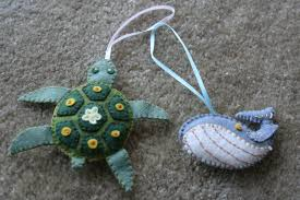 turtle and whale ornaments craft camp capers