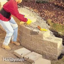 how to build a concrete retaining wall concrete block retaining