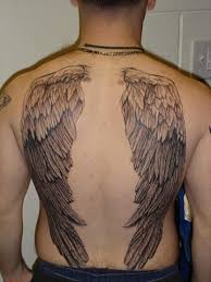 Wing Back Tattoos For - wings back by rafaelserrano on deviantart