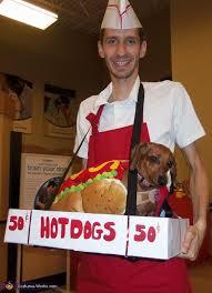 Hotdog Halloween Costume Dog Vendor Dog Halloween Costume Idea