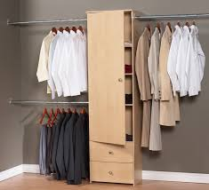 small bedroom clothes storage ideas with white wooden material and