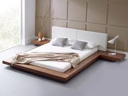 Modern Platform Bed Queen Bedroom Mid Century Platform Bed Modern Bed Frames Sleigh Bed