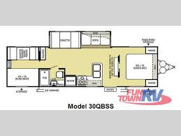 bunk bed rv floor plans used 2012 forest river rv salem 30qbss travel trailer at fun town