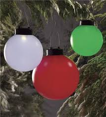 solar oversized hanging ornaments set of 2 lighting