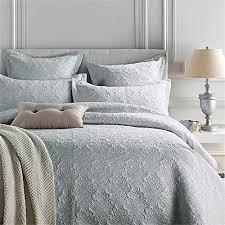 Grey Silk Comforter Autoalive Luxury Silk Satin Quilts Bedspread And Coverlet 3 Piece