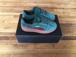 womens boots sale size 6 pumas shoes on sale rihanna fenty x suede creepers green