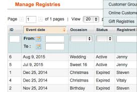 Wedding Gift Registry List Gift Registry A Magento Extension By Aitoc