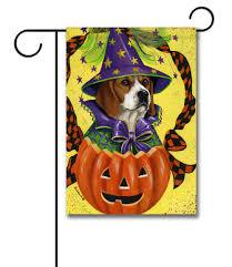 beagle halloweenie garden flag 12 5 u0027 u0027 x 18 u0027 u0027 custom printed