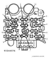 solved diagram of 92 wrangler fuse box fixya