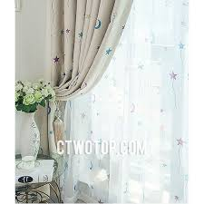 funky cheap toile beige colorful moon and star curtains