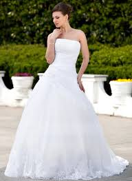organza wedding dress gown strapless chapel satin organza wedding dress with
