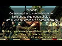 despacito asli jangan asal nyanyi ternyata ini lirik dan arti reff lagu despacito