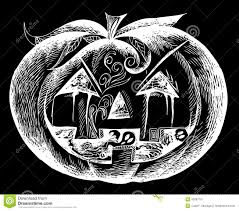 vector ghosts black halloween scary pumpkin vector stock vector image 45687791