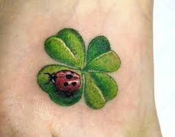 heart four leaf clover tattoo ladybug tattoo 3d piercing and