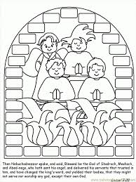 shadrach meshach and abednego coloring page to inspire in coloring