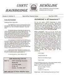 newsletters usntc bainbridge association