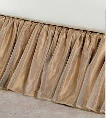 Burlap Bed Skirt Gold Bedskirt Queen Autumn Special Greenland Home Fashions Antique