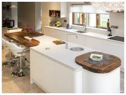 white gloss handleless island with prep sink u0026 cubic tap curved