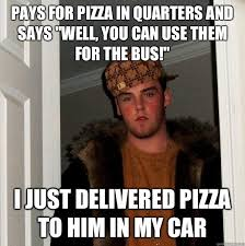 Pizza Delivery Meme - pizza delivery woes meme guy