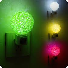 crystal plug in night light led magic crystal ball light induction plug nightlight baby bedroom