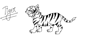 easy kids drawing lessons how to draw a cartoon tiger youtube
