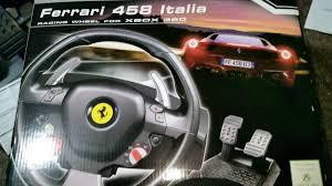 458 italia steering wheel thrustmaster 458 italia racing wheel for xbox 360 pc in