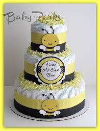 Diaper Cake Decorations For Baby Shower Mommy To Bee Diaper Cakes Bumble Bee Diaper Cake Mother To Bee