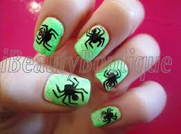 easy halloween spiders nail art ibeautyboutique youtube