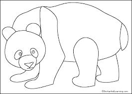 panda printout simple enchantedlearning