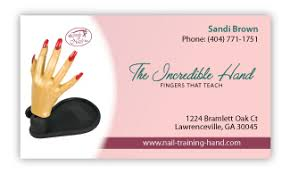 nails business card front side nails art templates vector layout