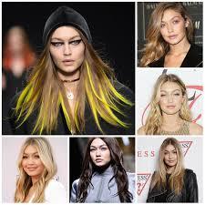 gigi hadid u0027s best hair colors for 2017 new hair color ideas