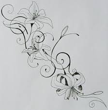 stunning tiger lily flowers tattoo design photos pictures and