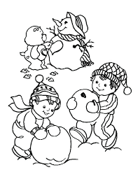 birthday bear coloring page care and snowman pages gift source