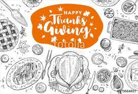 thanksgiving dinner vector illustration stock image