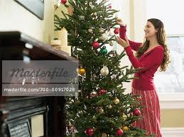 decorating tree stock photo masterfile